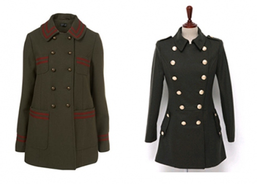 abrigo militar para mujer 2012