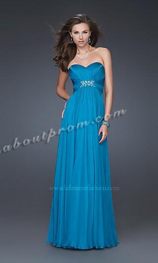 Vestidos de damas azul