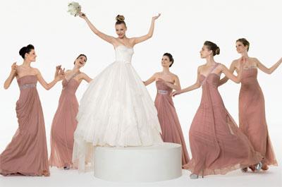 vestidos elegantes y sencillos para damas de honor