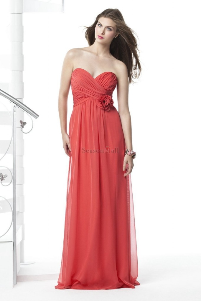 vestido de dama anaranjado elegante juvenil