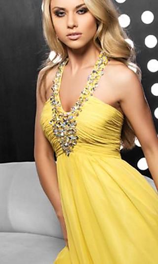 Vestido elegantes para damas amarillo, elegant bridesmaid dress beach yellow