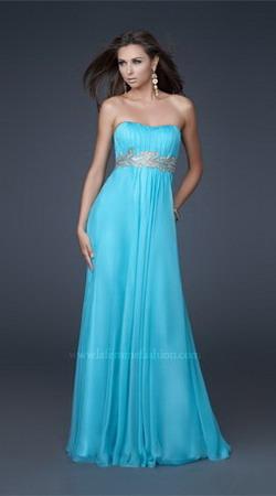 Vestido azul para boda