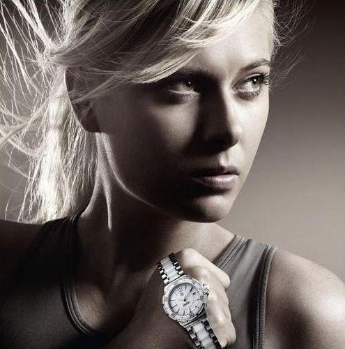 María Sharapova ejerciendo de modelo de una marca de relojes