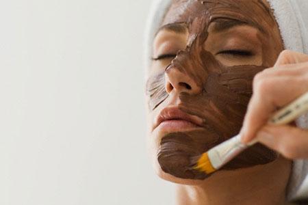Mascara facial de chocolate