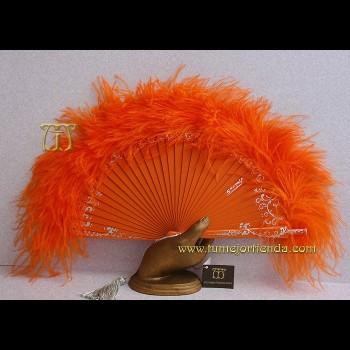 Abanico de plumas, Mod. ANAIA